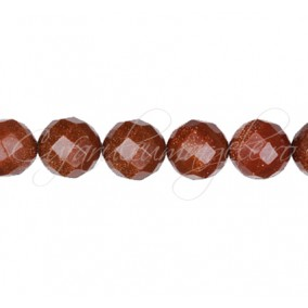 Goldstone auriu sferic fatetat 10 mm