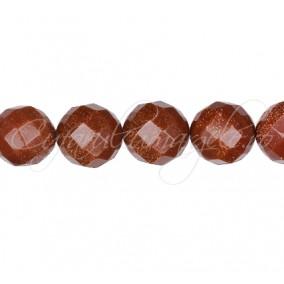 Goldstone auriu sferic fatetat 12 mm