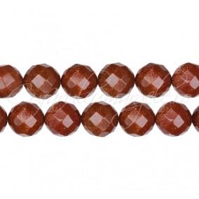 Goldstone auriu sferic fatetat 8 mm