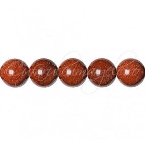 Goldstone auriu sferic lucios 12 mm