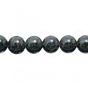 Goldstone verde sferic lucios 10 mm