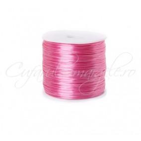 Guta elastica Crystal String fir compus 0.8 mm roz 50m