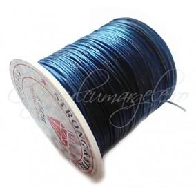 Guta elastica lucioasa fir plat bleumarin 0.8mm rola 10m