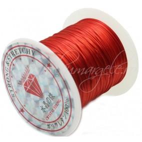 Guta elastica lucioasa fir plat rosu 0.8mm rola 10m