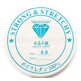 Guta elastica transparenta Crystaline 0.8 mm