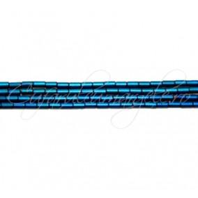 Hematit cilindric albastru satinat 4x2 mm