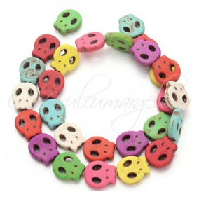 Howlit multicolor craniu 15x13mm sirag