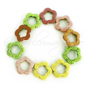 Howlit multicolor floare 38mm sirag