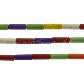 Howlit multicolor tub 12x4mm sirag