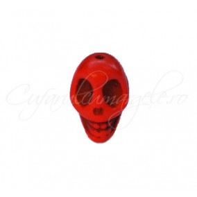 Howlit vopsit oranj craniu 18x13x17mm