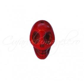 Howlit vopsit rosu craniu 18x13x17mm