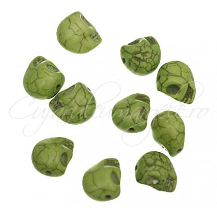 Howlit vopsit verde craniu 2 marimi