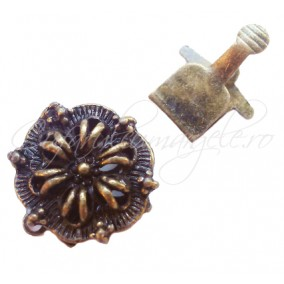 Inchizatoare eleganta bronz floare 20x15mm