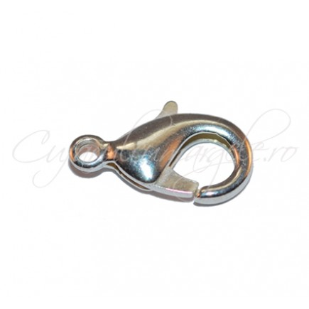 Inchizatori lobster gri argintiu 16x8 mm
