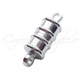 Inchizatori magnetice cilindrice 2 piese alb argintiu 17x6 mm
