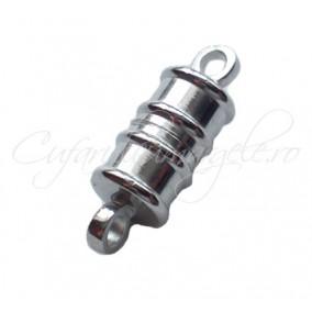 Inchizatori magnetice cilindrice 2 piese gri argintiu 17x6 mm