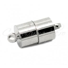 Inchizatori magnetice cilindrice 2 piese gri argintiu 17x7 mm