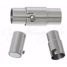 Inchizatori magnetice snur rotund 6 mm gri argintiu 17 mm