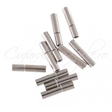 Inchizatori tub snur rotund 3 mm gri argintiu 17 mm
