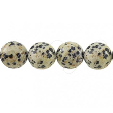 Jasp dalmatian sferic nefatetat 12 mm