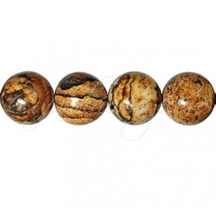 Jasp pictura sferic nefatetat 12 mm