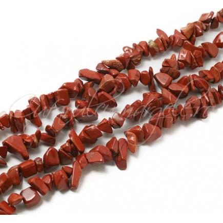 Jasp rosu chips 5-8 mm sirag 90cm