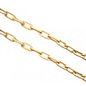 Lant auriu aluminiu 50 cm zale ovale drepte 16x8 mm