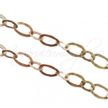 Lant bronz 1 m circular cu 2 zale ovale sudate