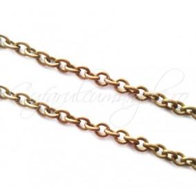 Lant bronz 50 cm zale ovale 5x4 mm