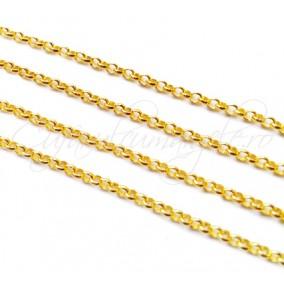 Lant galben auriu 50 cm zale rotunde 2 mm