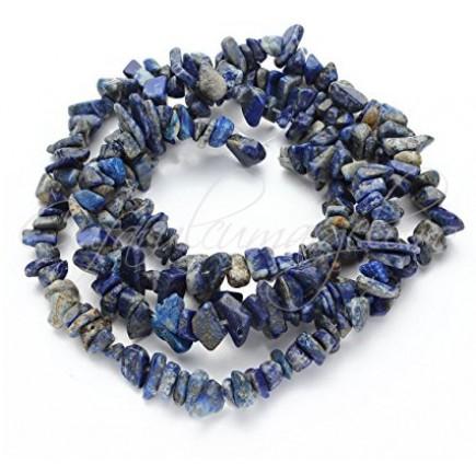 Lapis lazuli chips 5-8mm sirag 90cm