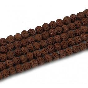 Lava dark brown sferic 4mm sirag