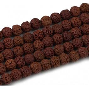 Lava dark brown sferic 6mm sirag