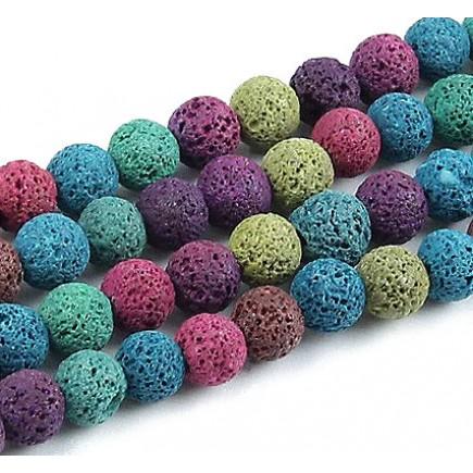 Lava mix culori sferic 10mm