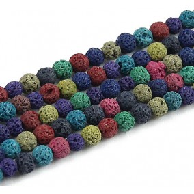 Lava mix culori sferic 4mm sirag