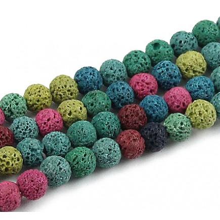 Lava mix culori sferic 8mm