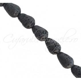 Lava neagra picatura 18x14mm
