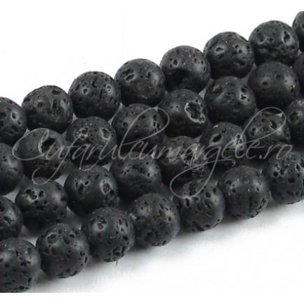 Lava neagra sferic 10mm