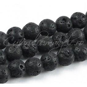 Lava neagra sferic 12mm