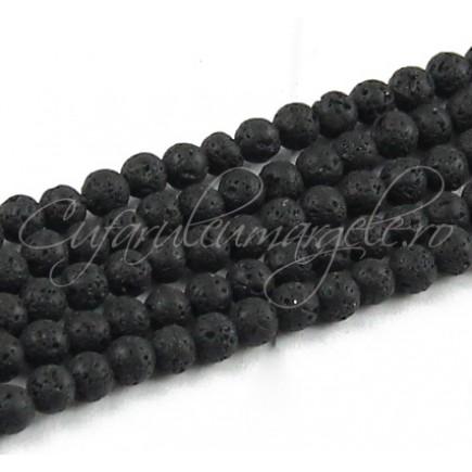 Lava neagra sferic 4mm sirag