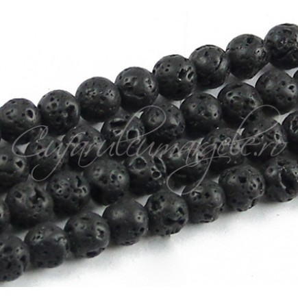 Lava neagra sferic 8mm