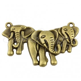 Link bronz 3 elefanti 45x28 mm