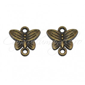 Link bronz fluture 14x14 mm