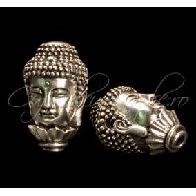 Margele argint tibetan cap Buddha lotus 32x18x18mm