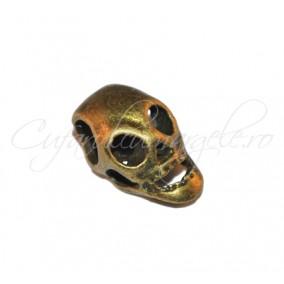Margele bronz craniu cu orificii 15x8x7 mm