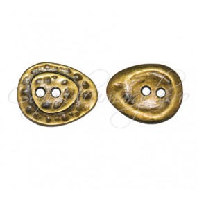 Margele bronz nasture 28x23x2 mm