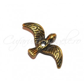 Margele bronz randunica 18x10 mm