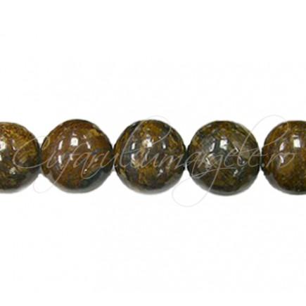 Margele bronzit sferic lucios 10 mm