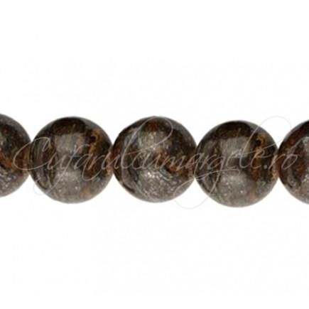 Margele bronzit sferic lucios 12 mm
