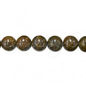 Margele bronzit sferic lucios 6 mm